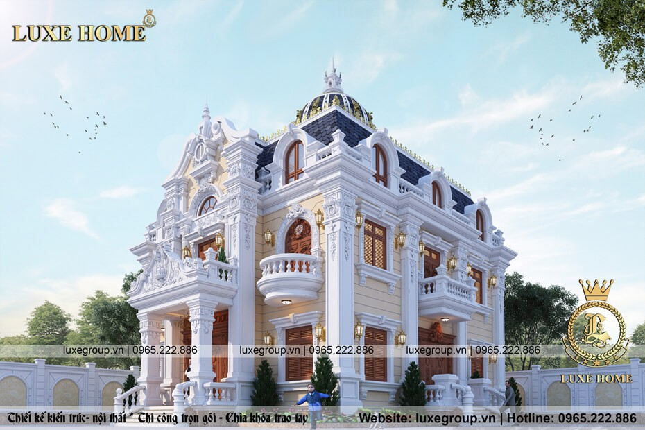 thiết kế lâu đài pháp đẹp ld 2119