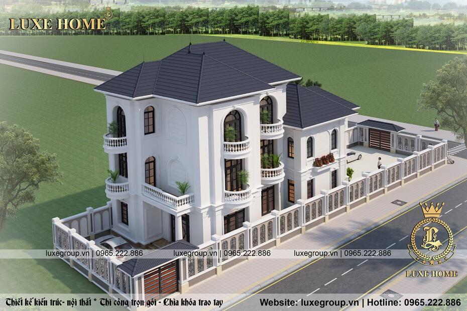 biệt thự tân cổ điển 3 tầng bt 3132