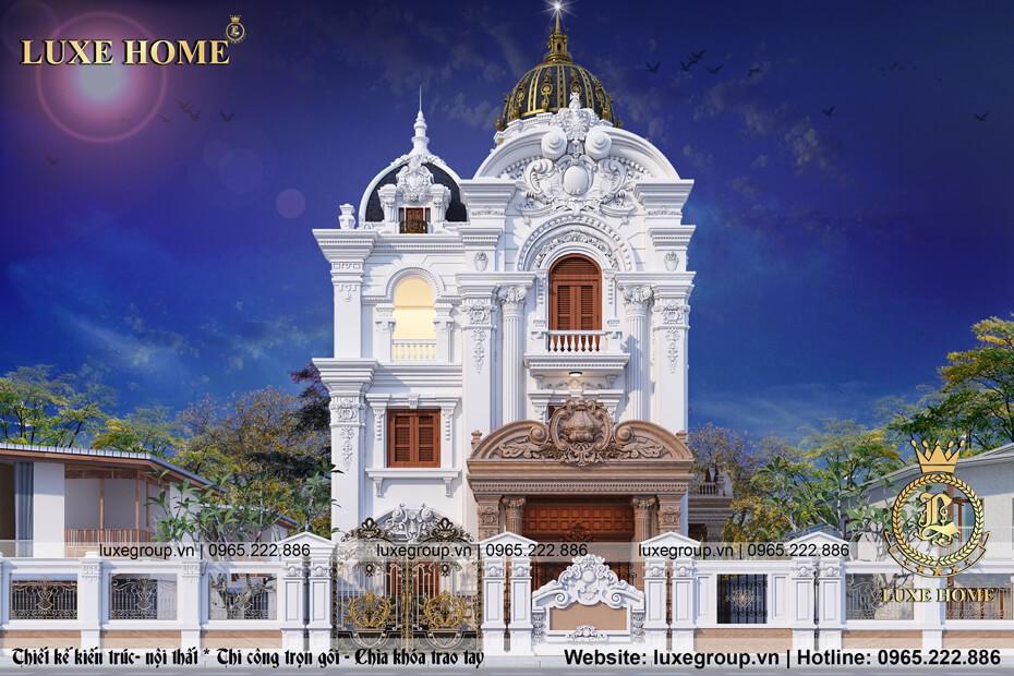 thiết kế biệt thự lâu đài cổ điển 3 tầng ld 3161