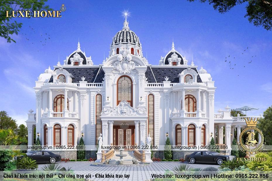 thiết kế lâu đài cổ điển 2 tầng ld 2158