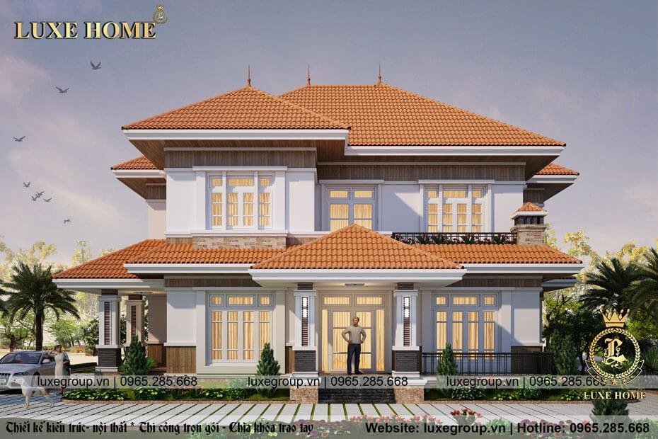 mẫu thiết kế biệt thự hiện đại đẹp bt 2159