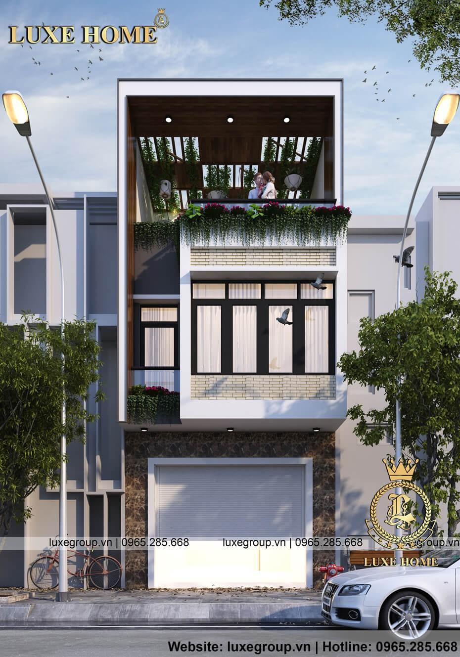 nhà 3 tầng hiện đại kinh doanh