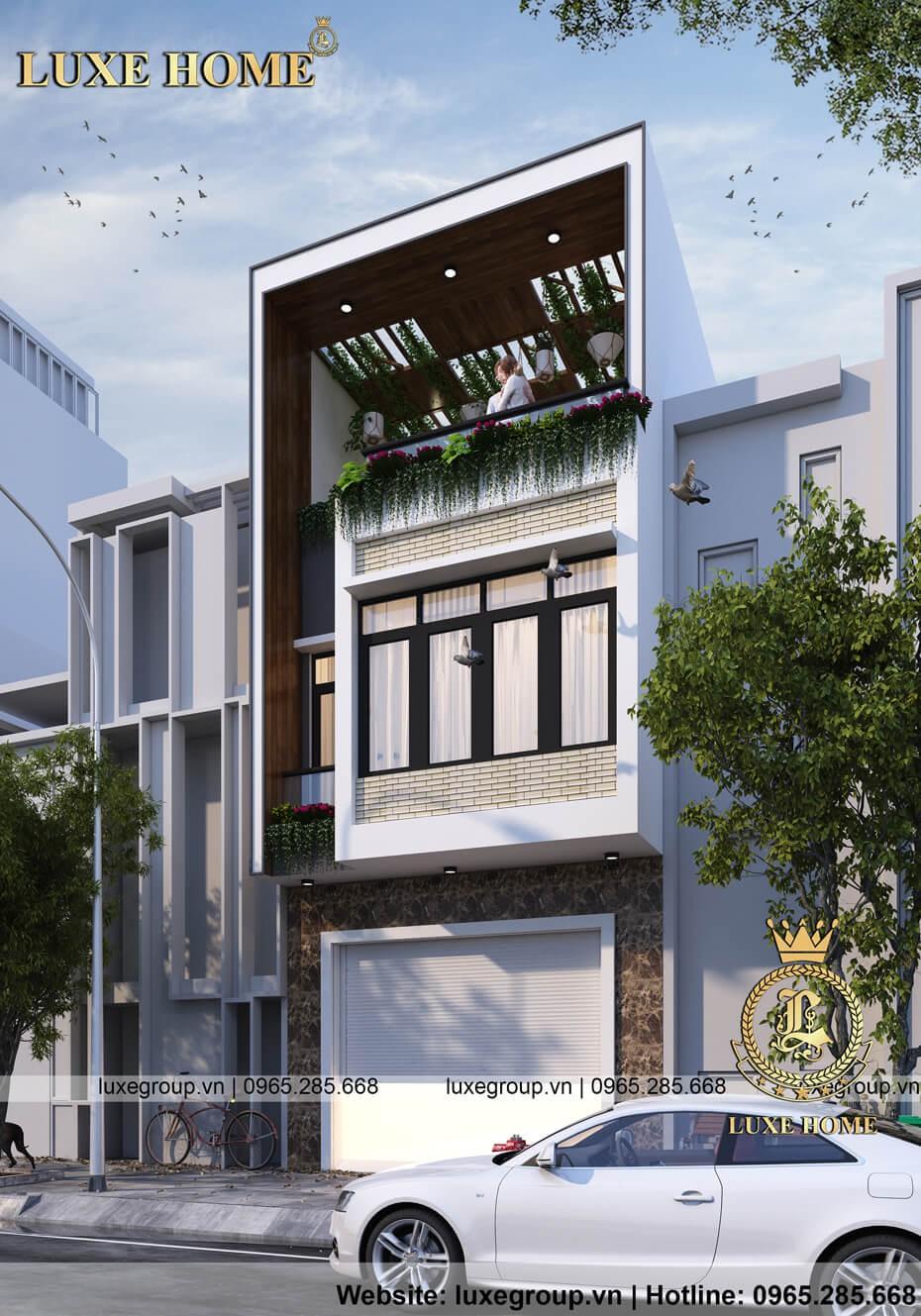 thiết kế biệt thự 3 tầng bt 3176