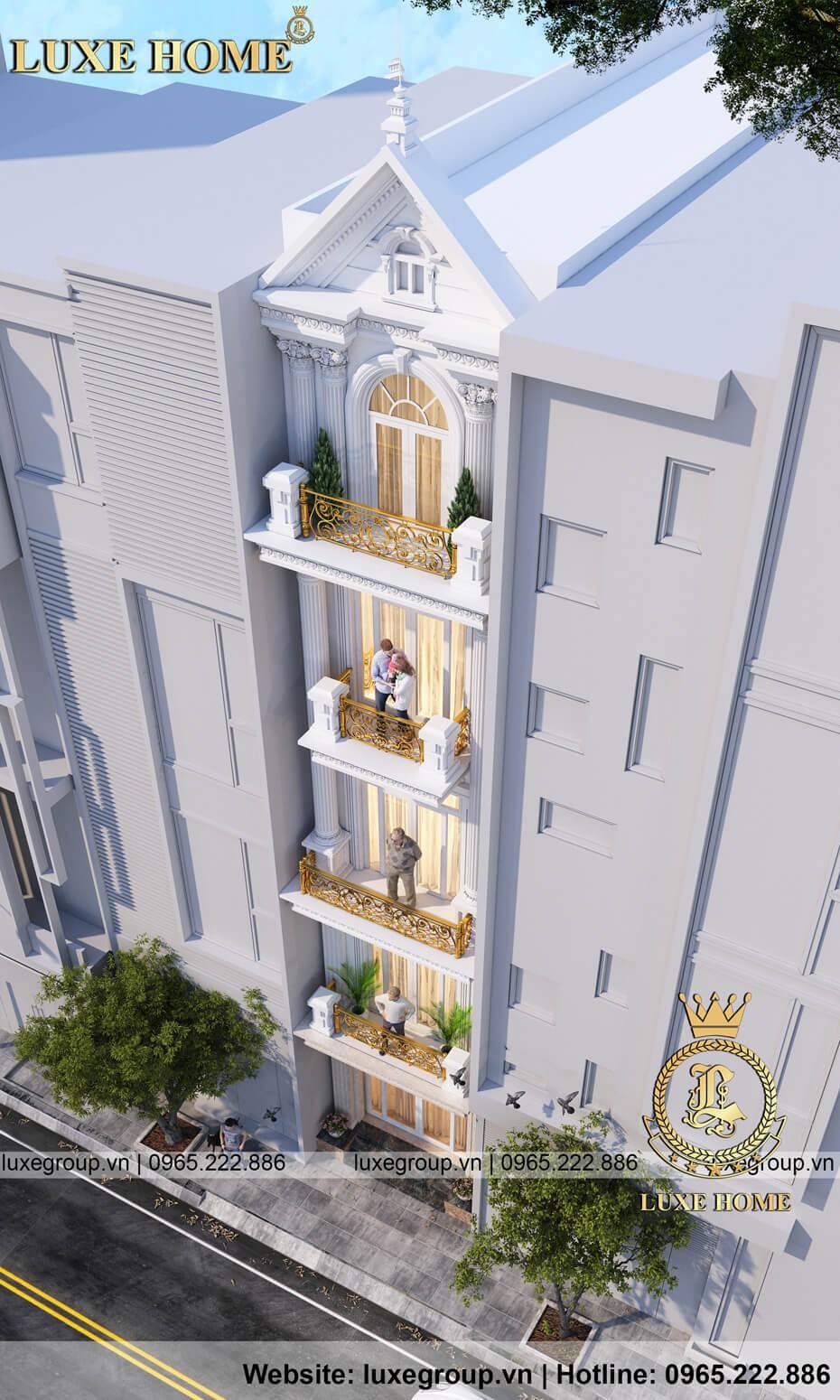 biệt thự tân cổ điển 5 tầng đẹp