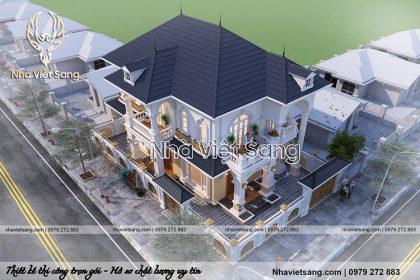 thiết kế biệt thự 2 tầng tân cổ điển bt 2112 04