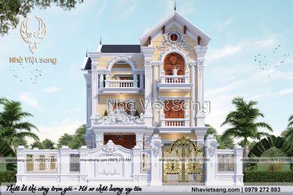 Mẫu Biệt Thự Tân Cổ Điển 3 Tầng Tại Ninh Bình – Mã số: BT 3112