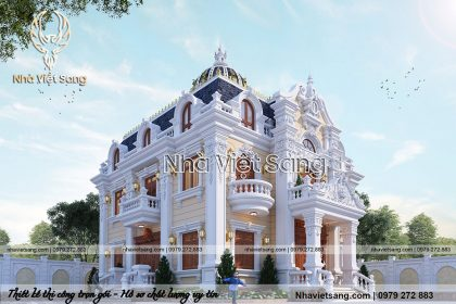 thiết kế biệt thự lâu đài 2 tầng cổ điển pháp bt 2119 02