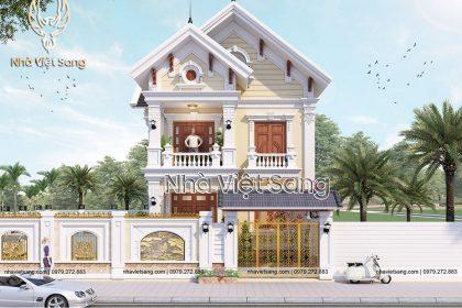 thiết kế biệt thự 2 tầng mái thái đẹp bt 2118 01