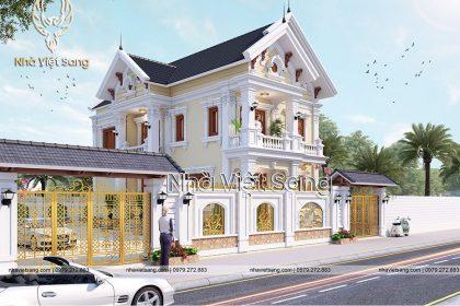 thiết kế biệt thự 2 tầng mái thái đẹp bt 2118 02