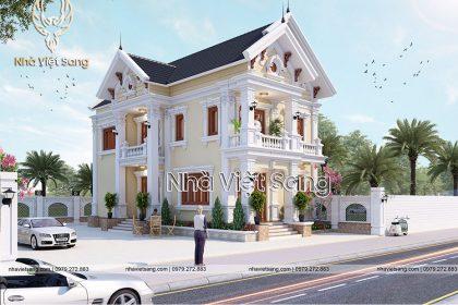 thiết kế biệt thự 2 tầng mái thái đẹp bt 2118 03
