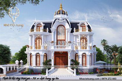 Thiết kế lâu đài tân cổ điển 2 tầng phong cách pháp – LD 2197