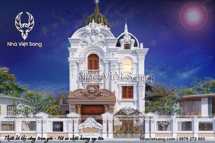 Mẫu thiết kế lâu đài 3 tầng cổ điển tại Ninh Bình – LD 31636