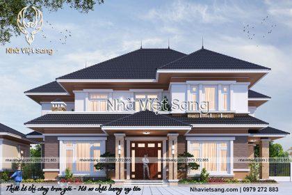 Tư vấn thiết kế biệt thự 2 tầng mái thái – BT 2194