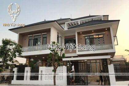Thi công mẫu biệt thự 3 tầng Anh Tùng Thái Nguyên – TC 3193