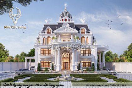 Lâu đài 3 tầng tân cổ điển kiến trúc Pháp đẳng cấp – LD 3201