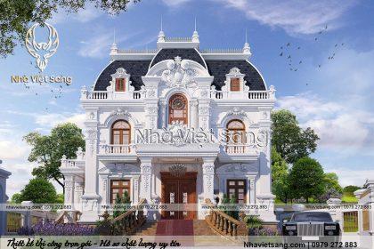 Chiếm ngưỡng mẫu biệt thự cổ điển pháp 2 tầng đẹp – BT 2252