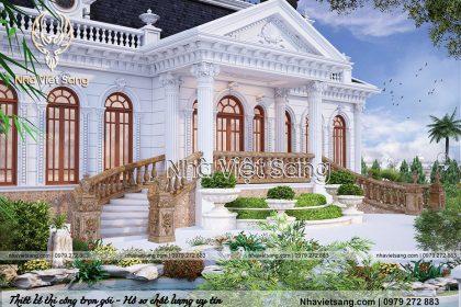 thiết kế lâu đài tân cổ điển pháp 1 tầng ld 1168 03