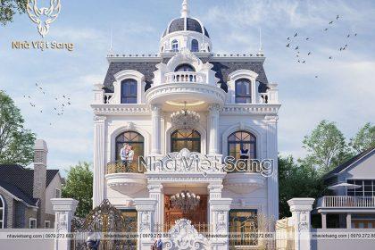 Thiết kế biệt thự dinh thự tân cổ điển 2 tầng Sơn La – BT 2260