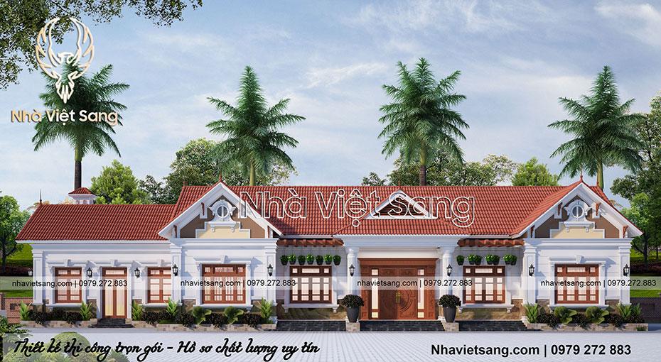 biệt thự hiện đại 1 tầng tại Ninh Bình bt 1120 01