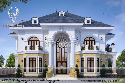 Kiến trúc biệt thự tân cổ điển 2 tầng đẹp – BT 2253