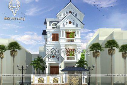 Thiết kế biệt thự 4 tầng tân cổ điển đẹp tinh tế – BT 4116