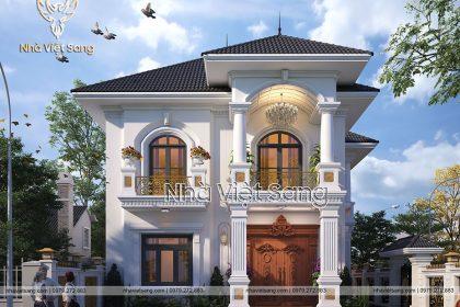 Thiết kế biệt thự tân cổ điển 2 tầng đẹp tinh tế – BT 2264