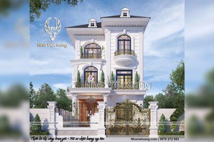 Mẫu thiết kế biệt thự 3 tầng Tại phúc Thọ đẹp – BT 3239