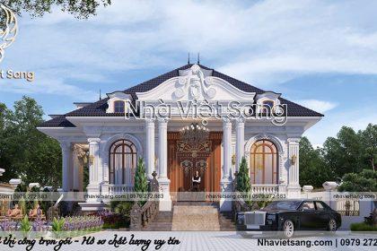 Thiết kế biệt thự tân cổ điển 1 tầng tại Hà Nam – BT 1121