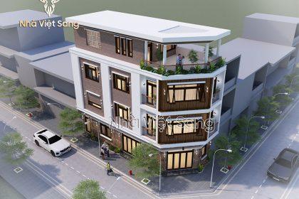 Thiết kế biệt thự 4 tầng hiện đại Tại Thanh Oai – BT 4119