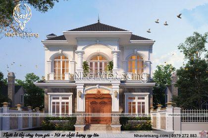 Thiết kế biệt thự 2 tầng tân cổ điển Tại Hòa Bình – BT 2271
