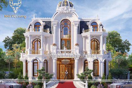 Thiết kế biệt thự tân cổ điển 2 tầng Tại Bắc Giang – BT 2270