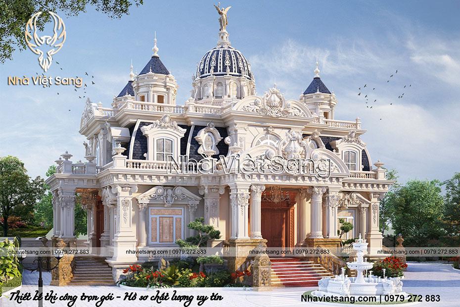 thiết kế lâu đài cổ điển 1 tầng pháp ld 1179 02