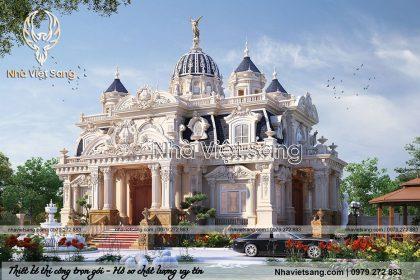 thiết kế lâu đài cổ điển 1 tầng pháp ld 1179 03