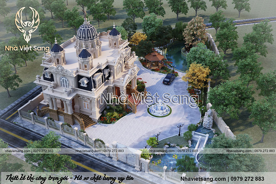 thiết kế lâu đài cổ điển 1 tầng pháp ld 1179 05