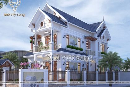 Biệt thự hiện đại 2 tầng mái thái tại Nghệ An – BT 2273