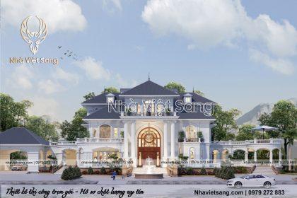 Biệt thự tân cổ điển 3 tầng sân vườn mái thái sang trọng – BT 3246
