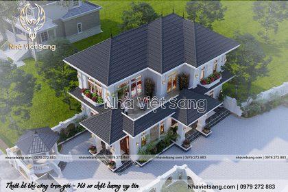 mẫu thiết kế biệt thự 2 tầng tân cổ điển tại bắc nình bt 2114 04