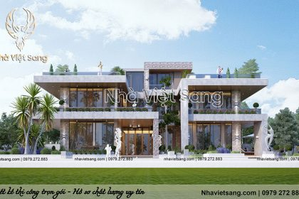 Thiết kế Villa nghỉ dưỡng hiện đại 2 tầng Tại Ninh Bình – BT 2125