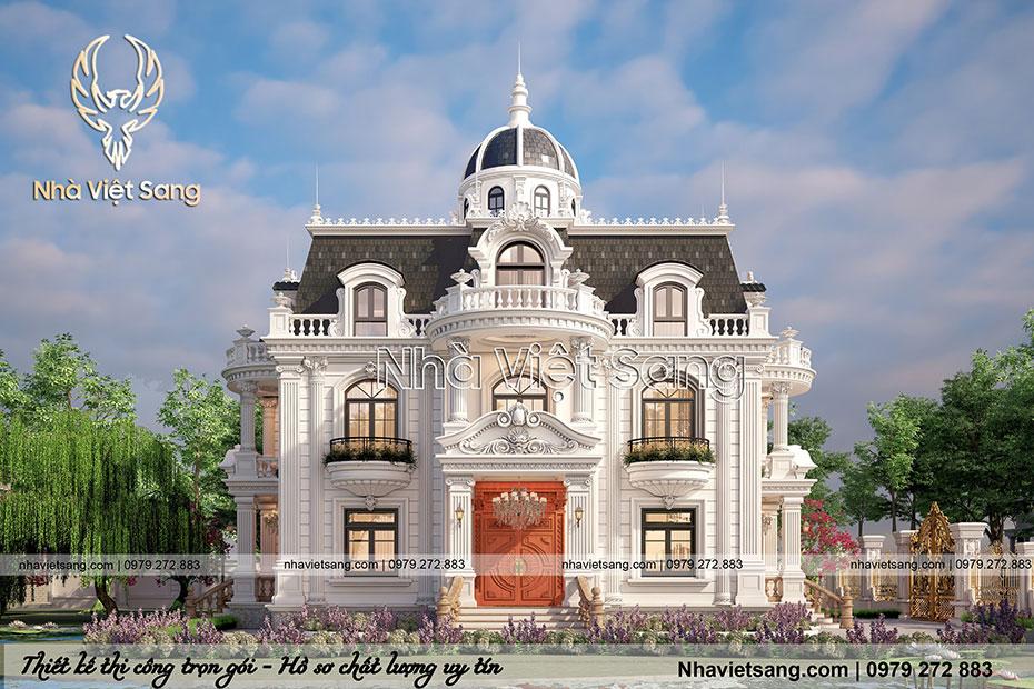 thiết kế biệt thự 2 tầng tân cổ điển tại bắc giang bt 2120 01