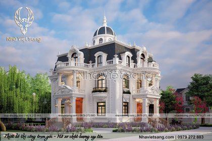 thiết kế biệt thự 2 tầng tân cổ điển tại bắc giang bt 2120 02