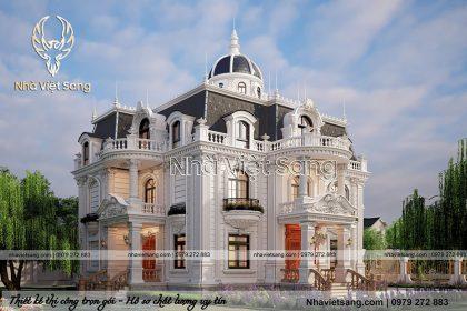 thiết kế biệt thự 2 tầng tân cổ điển tại bắc giang bt 2120 03