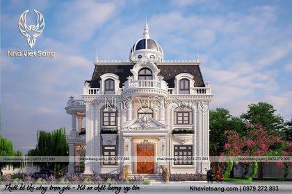 thiết kế biệt thự 2 tầng tân cổ điển tại bắc giang bt 2120 04