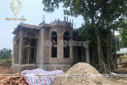 Thi công biệt thự 2 tầng nhà Anh Phong Tây Sơn – TC 2240