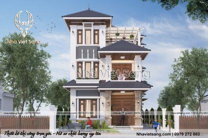 Biệt thự hiện đại 3 tầng gia đình Chú Sơn Tại Nghệ An – BT 3130