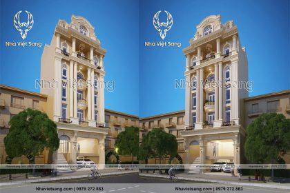 Thiết kế tòa nhà văn phòng 5 tầng mặt tiền 15m sang trọng – VP 5121