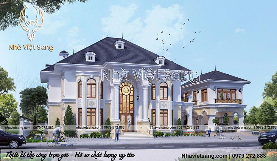 thiết kế biệt thự 2 tầng tân cổ điển sang trọng bt 2124 03