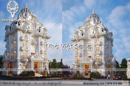 Chiếm ngưỡng biệt thự 5 tầng tân cổ điển pháp – BT 5125