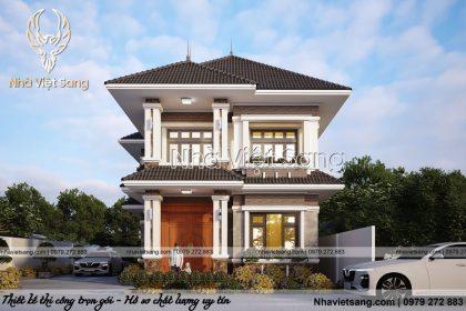 Thiết kế biệt thự 2 tầng hiện đại tại Hà Nội – BT 2285