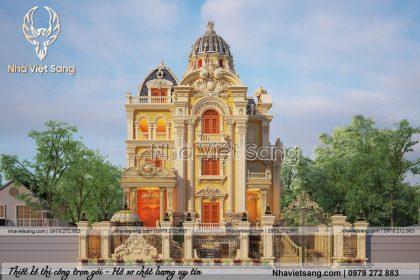 Chiếm ngưỡng biệt thự lâu đài 4 tầng cổ điển – BT 4122