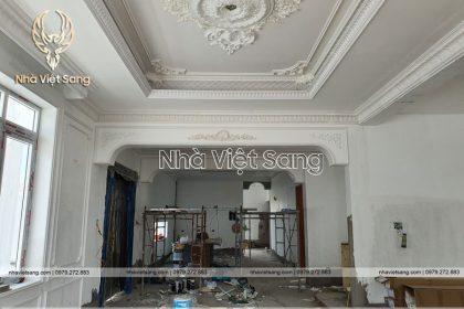 Hình ảnh thi công biệt thự 2 tầng nhà anh Minh – TC 2247